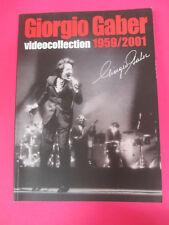 BOOK LIBRO GIORGIO GABER Videocollection 1959 2001 2011 MONDADORI no cd lp mc