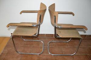 Original MART STAM Bauhaus Freischwinger Stühl Stahlrohrstühle 1930