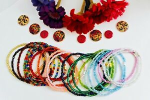 Anklet / Ankle Bracelet - Beaded Handmade Foot Chain Acrylic / Glass Seed Beads