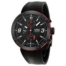 Oris TT1 Black Dial Rubber Mens Watch 674-7659-4764RS
