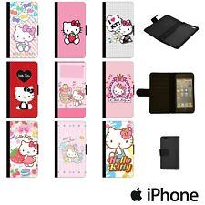HELLO KITTY CUTE CARTOON PINK FLIP WALLET PHONE CASE COVER APPLE iPhone HKTW00