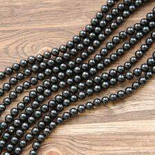 Shungite beads from Russia Karelia 40 pcs stone supplies for crafting S052