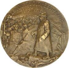 O7084 Médaille George Clémenceau Legastelois Guerre 1914 1918 SUP