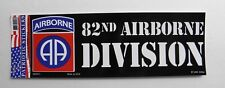 82nd A/B Airborne Division Bumper Sticker made in the USA 9 x 3.25 inches