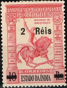 Portuguise India Goa Fauna Pets Farm Animals Horse stamp 1923 MLH B-6