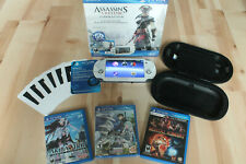 Sony PlayStation Vita Assassin's Creed Bundle White & 3 more Games & Case WORKS