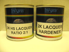 2K LACQUER CAR PAINT HIGH GLOSS 2 pack 750ml kit 2:1 PRO SPRAY WITH HARDENER