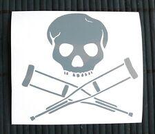 adesivo TESCHIO scheletro sticker decal vynil vinile skull risk auto JACKASS
