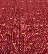"""Lovely Strie Stripe Diamond Embossed Matelasse Chenille Dot Fabric Reds 1.25x56"""""""