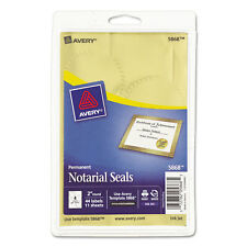 """Avery Printable Gold Foil Seals 2"""" dia 44/Pack 05868"""