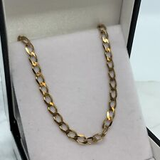 """18 1/2"""" yellow Gold Square Curb Chain 5.92 Grams 11mm Trigger weight Value £330"""
