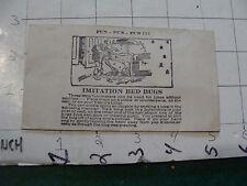 vintage TRICK/GAG/JOKE: 1950's/60's IMITATION BED BUGS sealed unused in bag