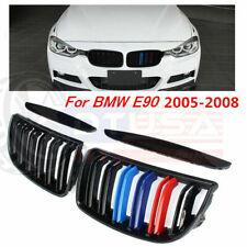 3-Color Gloss Black Front Kidney Grille Grill For BMW E90 325i 328i 335i 2005-08
