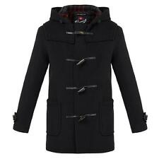 "Mens GLOVERALL Black Mid Duffle Coat 42"" RRP £375 CS074 06 J"