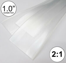 """(2 FEET) 1.0"""" Clear Heat Shrink Tubing 2:1 Ratio Wrap inch/foot/ft/to U.S.A 25mm"""