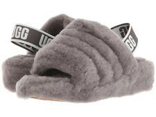 UGG Women's Fluff Yeah Slide Slipper Charcoal Sz 5-7 New w/ Box