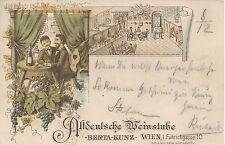Wien: I. Bezirk: Altdeutsche Weinstube Berta Kunz Führichgasse 10 / Wien 1897