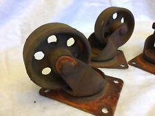 "Rusty 3"" steel casters set of 4 FREE SHIPPING"