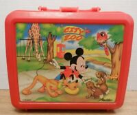 Aladdin Disney Mickey Mouse City Zoo with Thermos Plastic Lunch Pale 102119DBT3