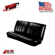 1966 Chevelle Coupe Front Bench / Rear Seat Upholstery Black Vinyl Made in USA!