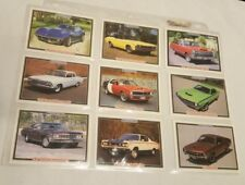 Muscle Cars set of 74 Trading Cards in Protective Sleeves from 1992 w Stats