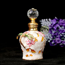 Vintage Dragonfly Empty Cut Metal Perfume Bottle Glass Wedding Gifts With box
