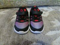 Little boys shoes size 5 reebok black and red