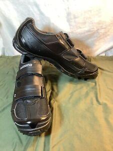 Shimano Bike Racer Shoes SM-SH51 M065 Black Leather Men 9.5/44