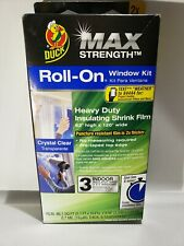 "NEW Duck Max Strength Roll-On Window Insulation Kits Heavy Duty Film 62"" x 120"""