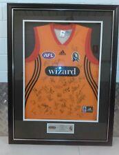 Framed 2005 Signed Collingwood FC Guernsey & Wizard HL Partnership (44 sigs)