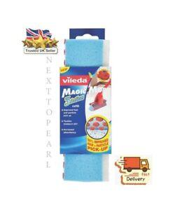 Vileda Pack of 2 New Magic Mop Sponge Refill Heads Tackles Stubborn Dirt Kitchen