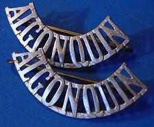 CANADA Canadian Armed Forces ALGONQUIN Regiment metal shoulder titles badges