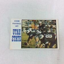 1977 USU Football Utah State University Aggie College Ticket Player Schedule