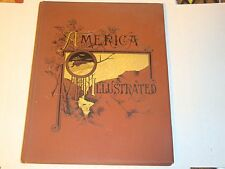 AMERICA ILLUSTRATED 1883 DeWolfe Fiske & Co. J David Williams Engravings RARE
