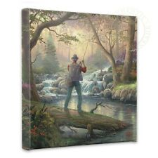 Thomas Kinkade It Doesn't Get Much Better 14 x 14 Gallery Wrapped Canvas