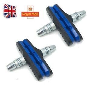 1-2 Pairs Brake Blocks Bicycle MTB Blocks Pads Shoes Mountain 70mm RED-YEL-BLUE