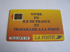 telecarte la poste ile de france 50u ref phonecote F136B