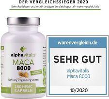 Alphavitalis Maca Gold Extrakt 8000 vegan 180 Kapseln hochdosiert 400mg Pulver