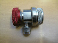 R134a Hi Side coupler with 3/8 flare with 1/4 size flare adapter Bosch ISC