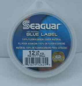 Seaguar 12FC25 Fluorocarbon Invisible Leader Material 12Lb Test 25Yd 15210