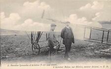 CPA SEMAINE LYONNAISE D´AVIATION 1910 L´AVIATEUR MOLON SUR BLERIOT MOTEUR ANZANI