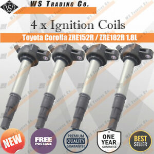 4 x Ignition Coils for Toyota Corolla ZRE152 ZRE182R 2008-2014 2ZR-FE 1.8L