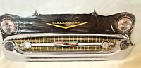 """25"""" HUGE 1957 Chevy classic car Bel Air Grill Front End USA STEEL Metal Sign '57"""