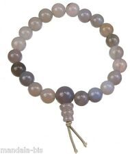 Bracelet Mala Tibétain - Agate Rubanée