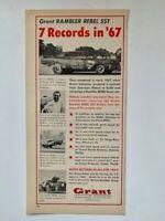 Hayden Proffitt Grant Rambler Rebel SST 1967 Grant Piston Rings Print Ad