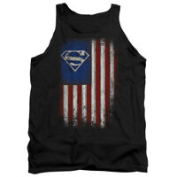 SUPERMAN OLD GLORY Licensed Adult Men's Graphic Tank Top Sleeveless SM-2XL