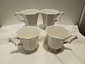 Nikko Classic Collection Cups Mugs Coffee Tea Japan White Set Of 4