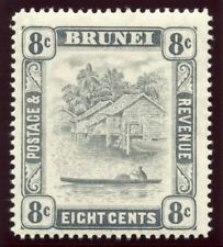 Brunei 1933 KGV 8c grey-black MLH. SG 72. Sc 53.