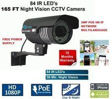 1080P 2MP POE Outdoor 84 LEDS 3.6MM IP HD IR Security Camera CCTV 165ft IR mtlc