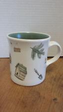 "Vintage pfaltzgraff Naturewood coffee MUG CUP 3 7/8"" Green gardening, birdhouse"